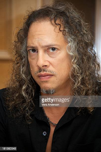 Kirk Hammett at the Metallica Through The Never Press Conference at the Fairmont Hotel on September 17 2013 in San Francisco California