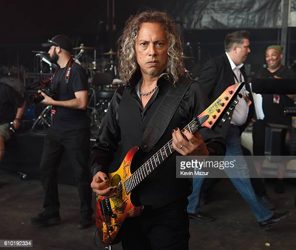 Kirk Hammett of Metallica attends the 2016 Global Citizen Festival In Central Park To End Extreme Poverty By 2030 at Central Park on September 24...