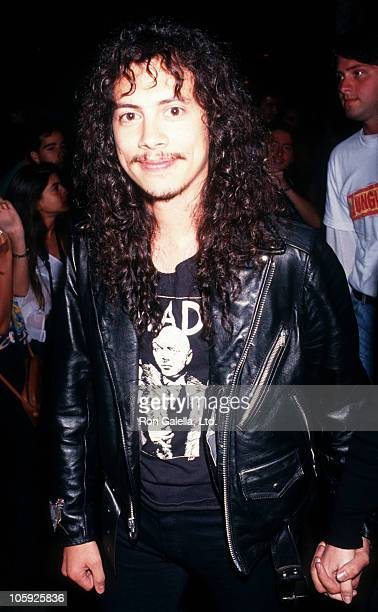 Kirk Hammett of Metallica during 'Bill Ted's Bogus Journey' Hollywood Premiere at Hollywood Palladium in Hollywood California United States