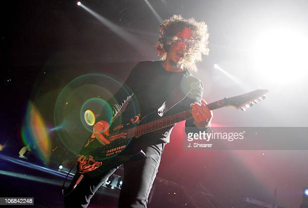 "Kirk Hammett of Metallica during Metallica and Godsmack Perform on the ""Madly in Anger With the World"" Tour - November 27, 2004 at Arrowhead Pond in..."