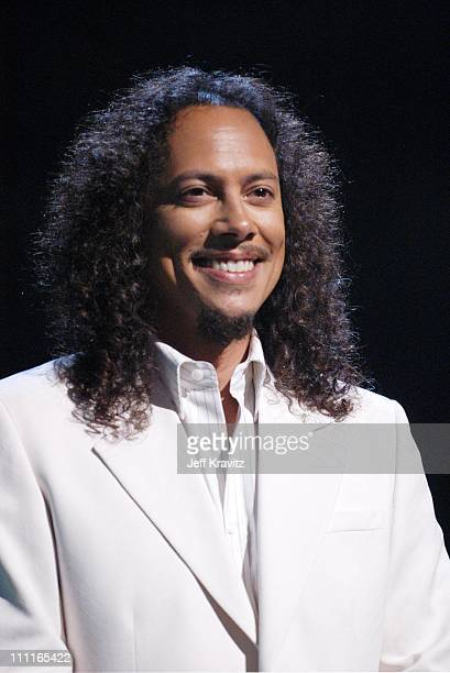 Kirk Hammett of Metallica during MTV Icon Metallica Rehearsals at Universal Studios Stage 12 in Universal City CA United States