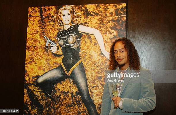 Kirk Hammett of Metallica during The Art of Elysium Presents Russel Young fame shame and the realm of possibility Hosted by Balthazar Getty and...