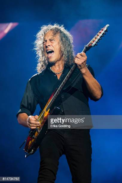 Kirk Hammett of Metallica performs at Festival d'ete de Quebec on July 14, 2017 in Quebec City, Canada.