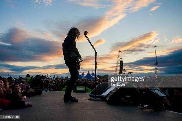 Kirk Hammett of Metallica performs on stage during the Download Festival at Donington Park on June 9 2012 in Castle Donington United Kingdom