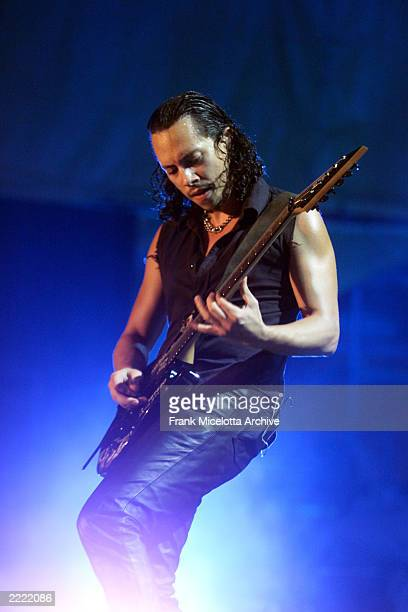Kirk hammett of Metallica performs on the east stage Saturday at Woodstock '99 in Rome New York at Griffiss AFB Park for the 30th Anniversary Concert...