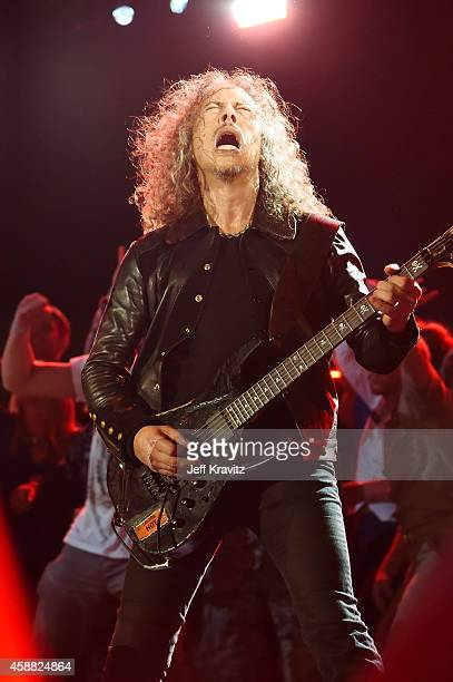 Kirk Hammett of Metallica performs onstage during The Concert For Valor at The National Mall on November 11 2014 in Washington DC