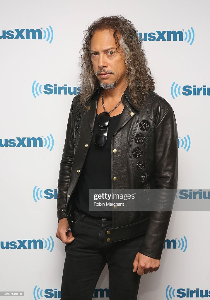 Kirk Hammett of Metallica visits at SiriusXM Studios on April 14, 2015 in New York City.