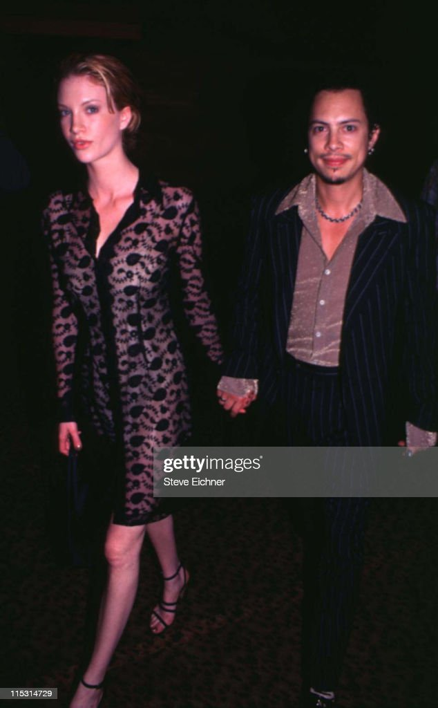 Kirk Hammett of Metallica with guest during 'Trainspotting' New York City Premiere at Sony Theater - 34th Street in New York City, New York, United States.