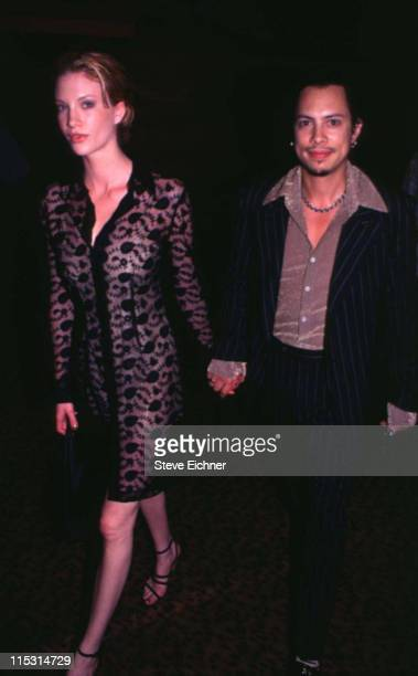 Kirk Hammett of Metallica with guest during Trainspotting New York City Premiere at Sony Theater 34th Street in New York City New York United States