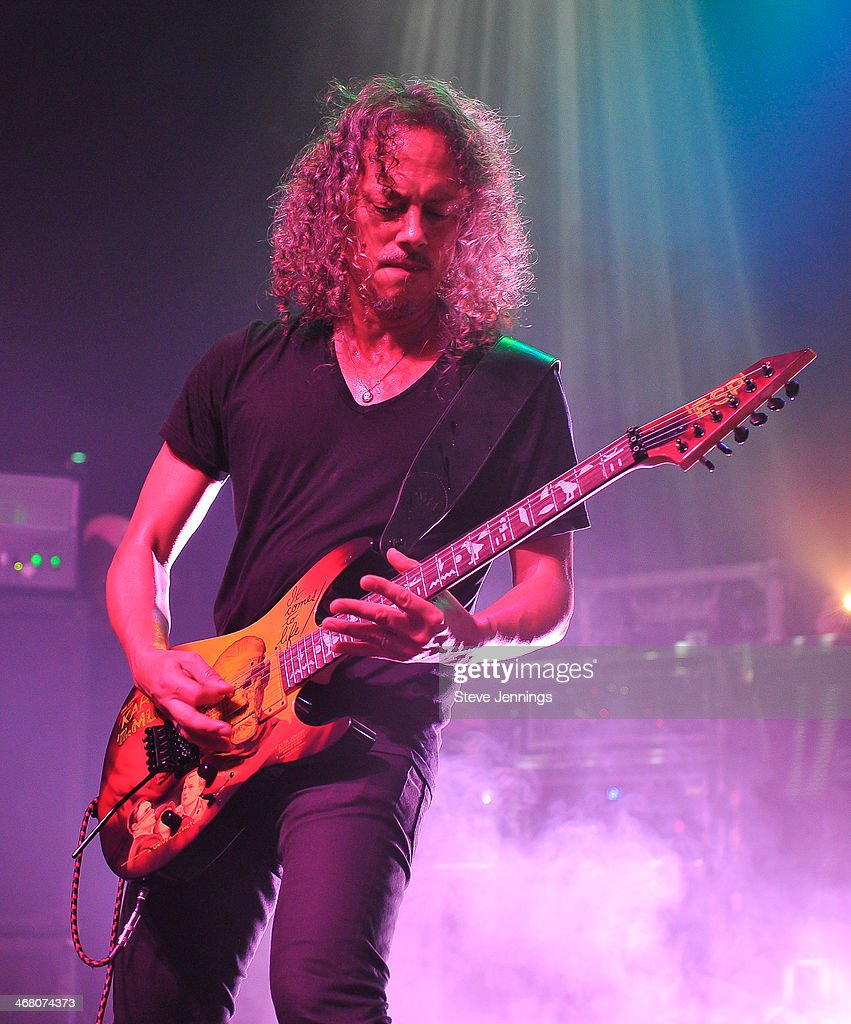 Kirk Hammett performs at Kirk Von Hammett's Fear FestEvil at Grand Regency Ballroom on February 8, 2014 in San Francisco, California.