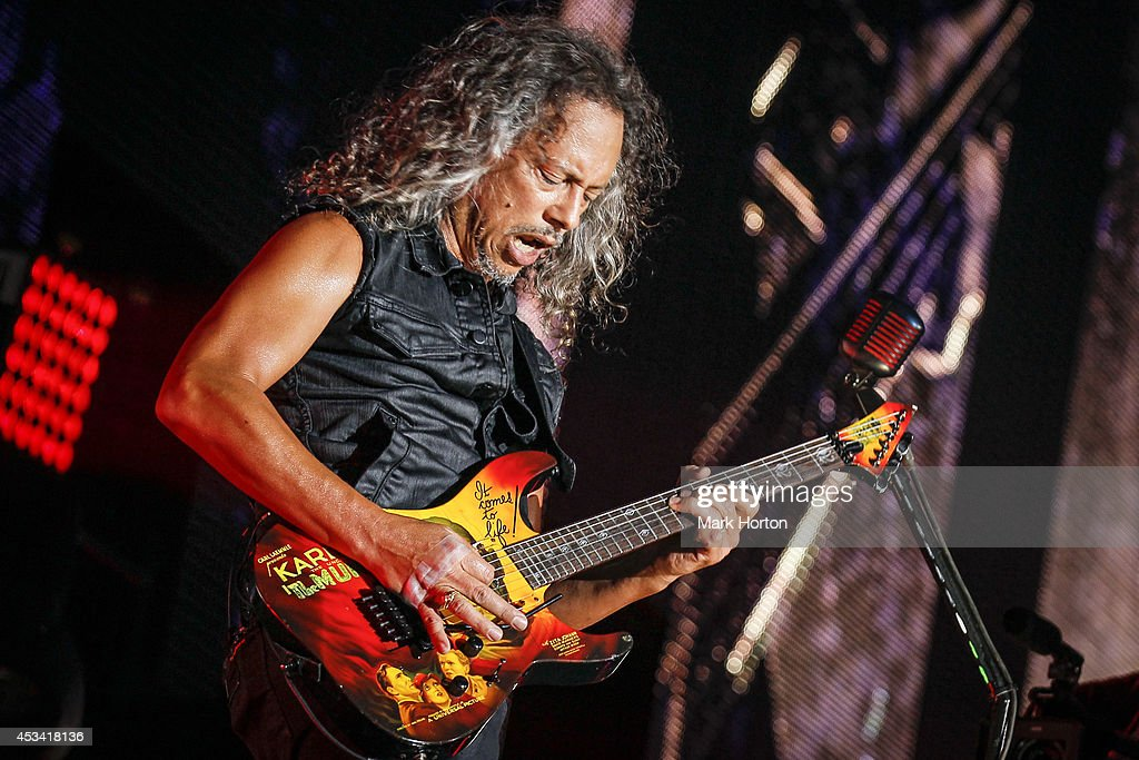Kirk Hammett performs with Metallica on Day 1 of the Heavy Montreal Festival on August 9, 2014 in Montreal, Canada.
