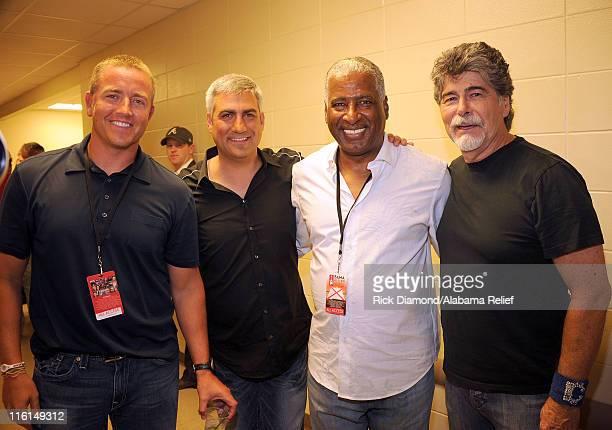 Kirk Herbstreit of ESPN Taylor Hicks Birmingham Mayor William A Bell Sr and Randy Owen attend Bama Rising A Benefit Concert For Alabama Tornado...