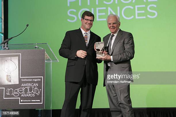 Kirk Johnson director of the National Museum of Natural History presents Smithsonian Magazine's first annual American Ingenuity Award for physical...
