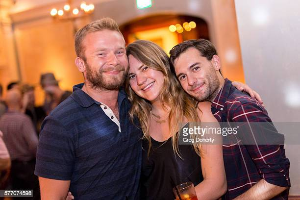 """Kirk Judson, Drew Bierut and Dan Robert pose for a picture at the 2016 Outfest Los Angeles Closing Night Gala Of """"Other People"""" After Party at The..."""
