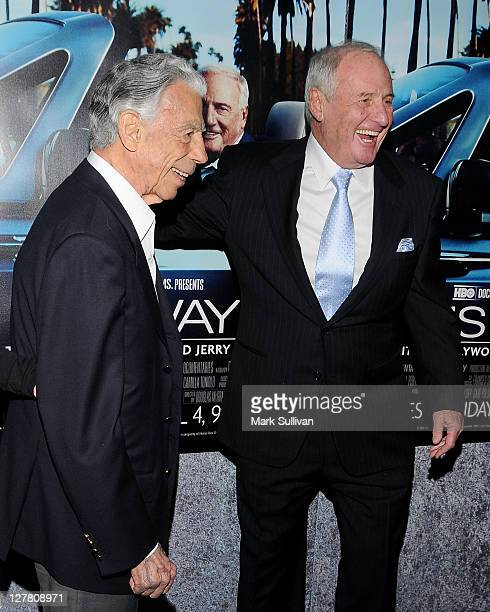 Kirk Kerkorian and Jerry Weintraub attend the Los Angeles premiere HBO's His Way at Paramount Theater on the Paramount Studios lot on March 22 2011...