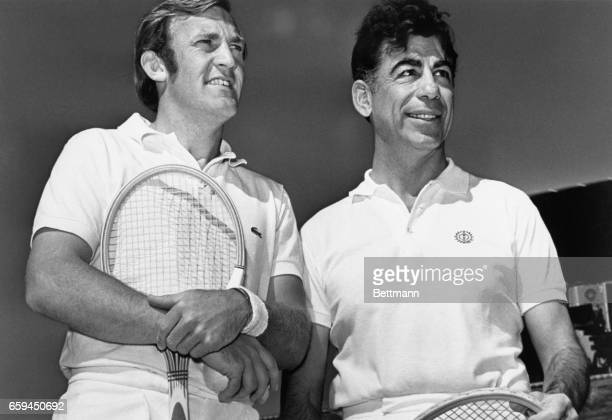 Kirk Kerkorian and Tony Roche played in Celebrity Challenge Cup Classic which preceded the Howard Hughes Open Tennis Championships