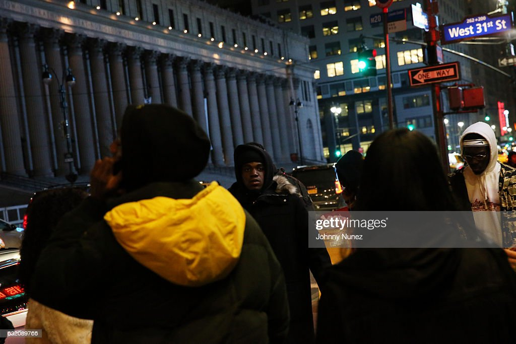 Kirk Knight (c) arrives at Yams Day With A$AP Rocky at Madison Square Garden on January 18, 2017 in New York City.
