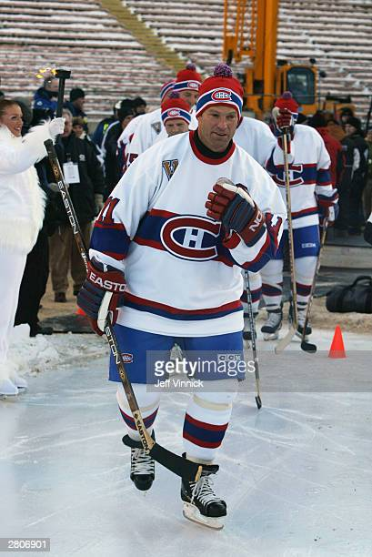 Kirk Muller of the Montreal Canadiens skates onto the ice surface prior to taking on the Edmonton Oilers in the Molson Canadien Heritage Classic...