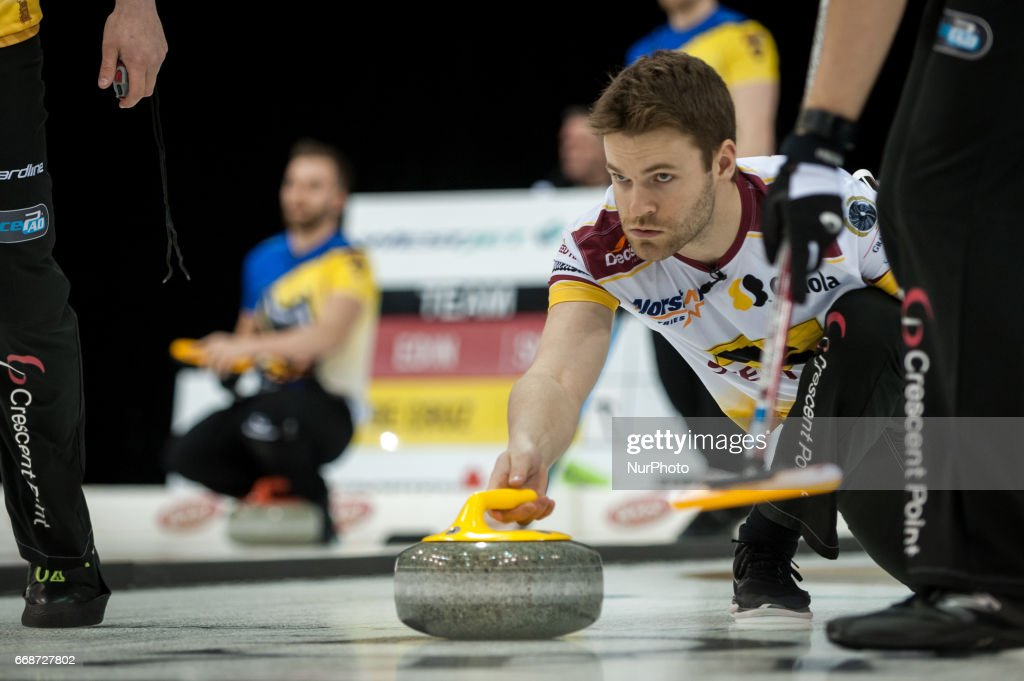 Kirk Muyres on the ice during 2017 WetJet Players Championship which takes place in Ryerson's Mattamy Athletic Centre, in Toronto, Ontario, Canada on April 13, 2017.