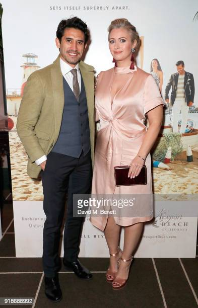 Kirk Newmann and Hayley McQueen attend the Newport Beach Film Festival UK Honours in association with Visit Newport Beach at The Rosewood Hotel on...