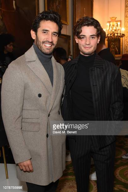 Kirk Newmann and Jack Brett Anderson attend the Barbour presentation during London Fashion Week Men's January 2019 at Lancaster House on January 7...