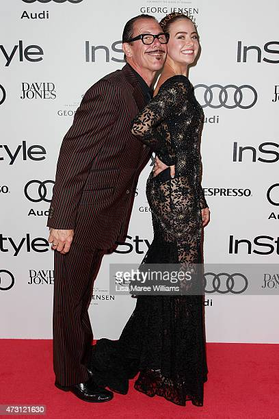 Kirk Pengilly and AprilRose Pengilly arrive at the 2015 Women of Style Awards at Carriageworks on May 13 2015 in Sydney Australia