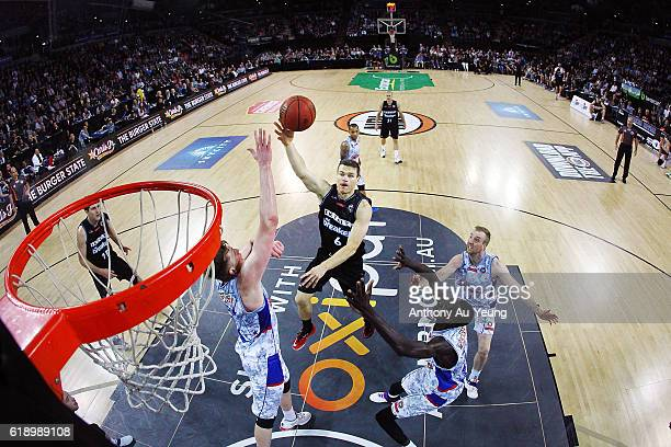 Kirk Penney of New Zealand puts up a shot during the round four NBL match between the New Zealand Breakers and the Adelaide 36ers at North Shore...
