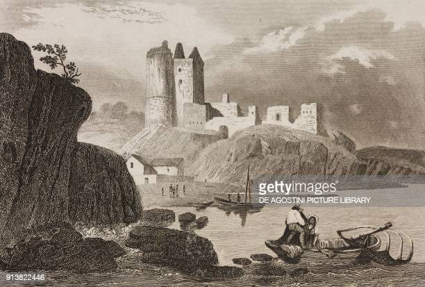 Kirkcaldy Scotland United Kingdom engraving by Schroeder from Angleterre Ecosse et Irlande Volume IV by Leon Galibert and Clement Pelle L'Univers...