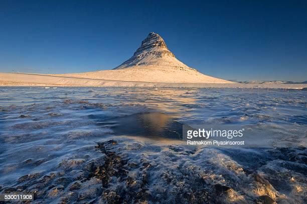 Kirkjufel, Iceland Winter Landscape