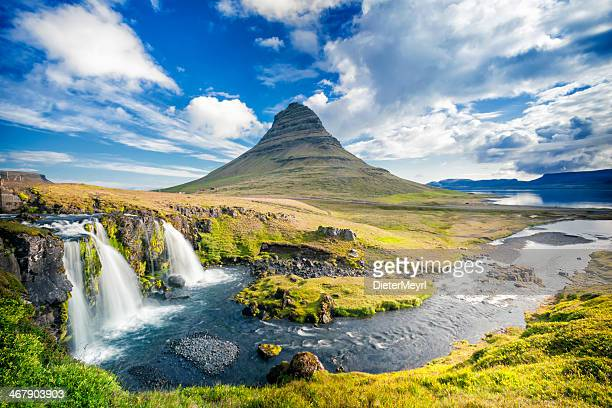 kirkjufell, iceland - iceland stock pictures, royalty-free photos & images