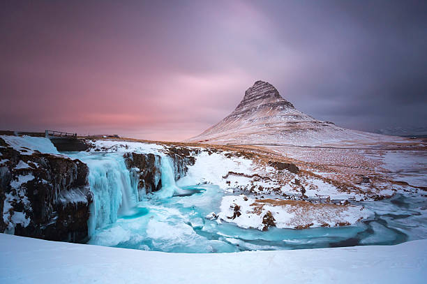 Kirkjufell Mountain At Snæfellsnes Penisula West Of Iceland Wall Art