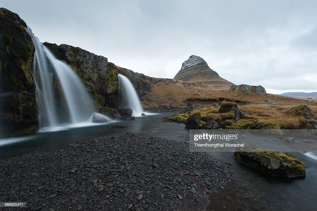 Kirkjufell mountain Icaland : Stock Photo