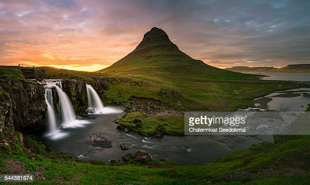 Kirkjufell mountain in the early morning