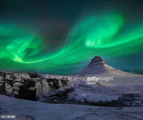 Kirkjufell with Northern Light