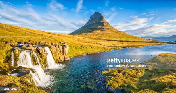 Kirkjufells Mountain with Waterfall