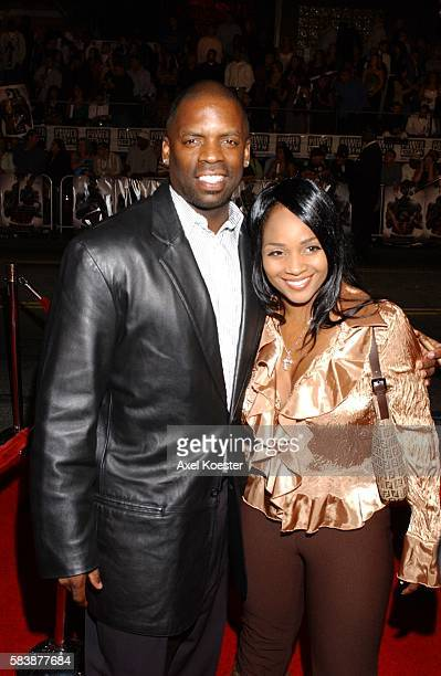 TK Kirkland and Erika Burden attend the world premiere of Get Rich or Die Tryin at the Grauman's Chinese theatre in Los Angeles