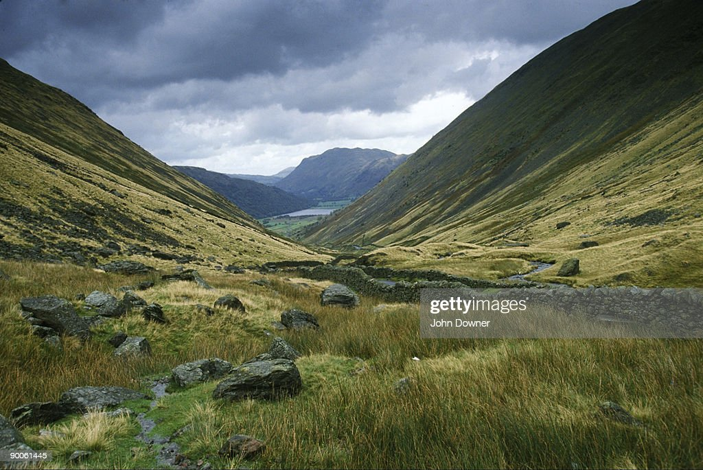 kirkstone pass nr ambleside lake district cumbria : Stock Photo
