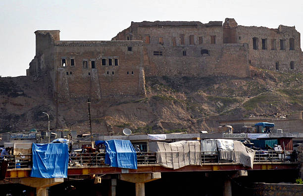 A general view shows the Citadel of ' Kawer' locted in the centre of