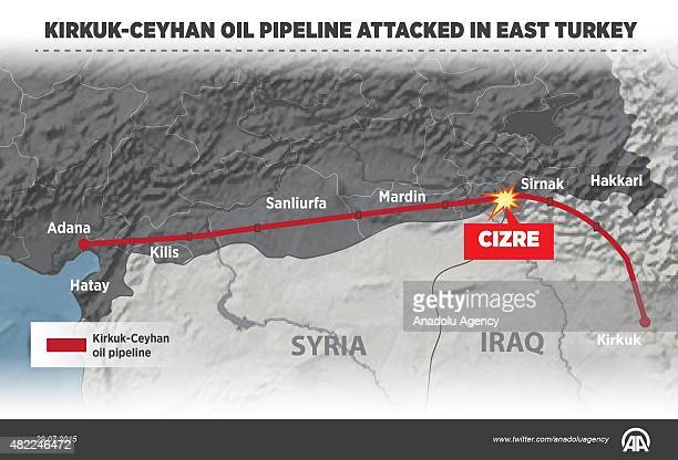 KirkukCeyhan oil pipeline has been attacked in Cizre district of Sirnak Turkey on July 29 2015 According to a statement released by the Turkish...
