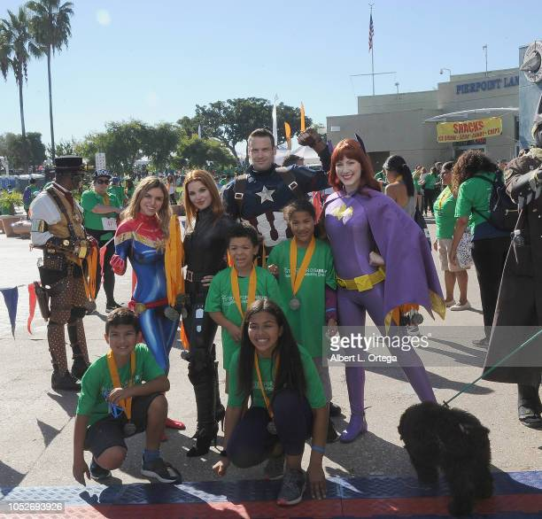Kirsten Armorheart Ainsley Ross Jeff Knight and TaraNicole Azarian pose with attendee at Easter Seals Southern California's 'Strides For Disability...