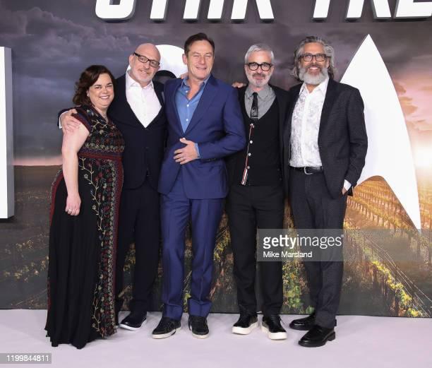 "Kirsten Beyer, Alex Kurtzman, Jason Isaacs, Akiva Goldsman and Michael Chabon attend the ""Star Trek Picard"" UK Premiere at Odeon Luxe Leicester..."