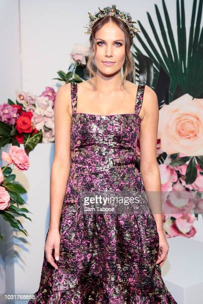 Kirsten Clemens attends the 2018 Myer Spring Fashion Lunch at Flemington Racecourse on September 12 2018 in Melbourne Australia