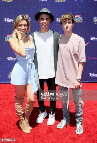 Kirsten Collins Chris Collins and Crawford Collins attend the 2017 Radio Disney Music Awards at Microsoft Theater on April 29 2017 in Los Angeles...