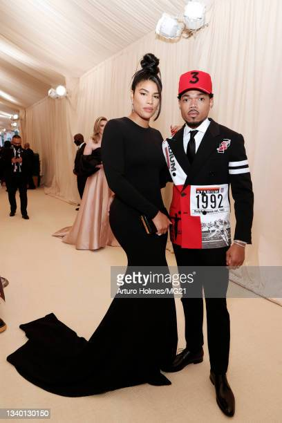 Kirsten Corley and Chance the Rapper attend The 2021 Met Gala Celebrating In America: A Lexicon Of Fashion at Metropolitan Museum of Art on September...