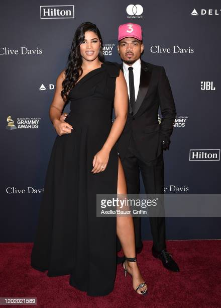 """Kirsten Corley and Chance the Rapper attend the Pre-GRAMMY Gala and GRAMMY Salute to Industry Icons Honoring Sean """"Diddy"""" Combs at The Beverly Hilton..."""