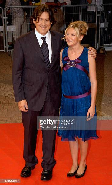 Kirsten Dunst and Cameron Crowe during 31st American Film Festival of Deauville Elizabethtown Premiere at CID in Deauville France