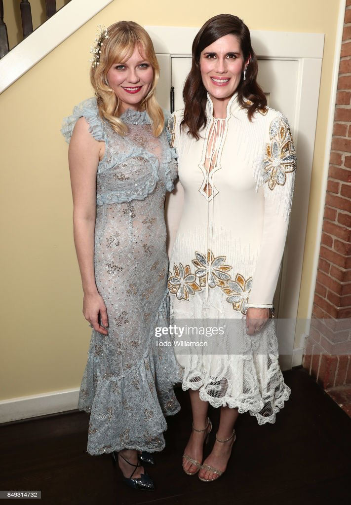 Kirsten Dunst and Director Laura Mulleavy attend the premiere Of A24's 'Woodshock' at ArcLight Cinemas on September 18, 2017 in Hollywood, California.