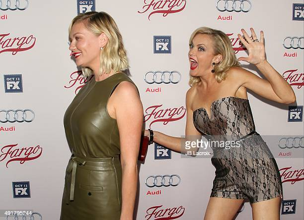 Kirsten Dunst and Elaine Hendrix attend the premiere of FX's 'Fargo' Season 2 held at ArcLight Cinemas on October 7 2015 in Hollywood California
