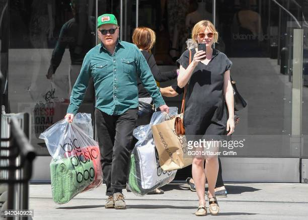 Kirsten Dunst and her husband, Jesse Plemons are seen on April 04, 2018 in Los Angeles, California.