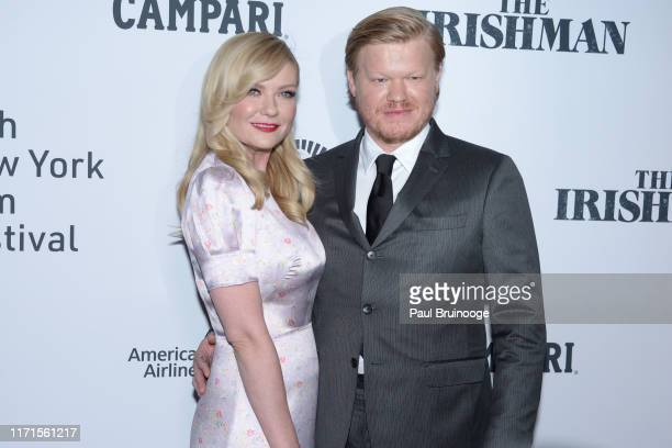 """Kirsten Dunst and Jesse Plemons attend NYFF57 Opening Night Gala Presentation & World Premiere of """"The Irishman"""" on September 27, 2019 at Alice Tully..."""